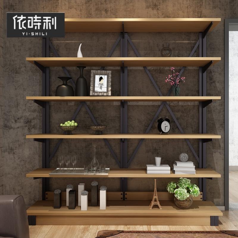 北欧简约置物架书架厂家直销落地创意铁艺多层靠墙置物架子定制