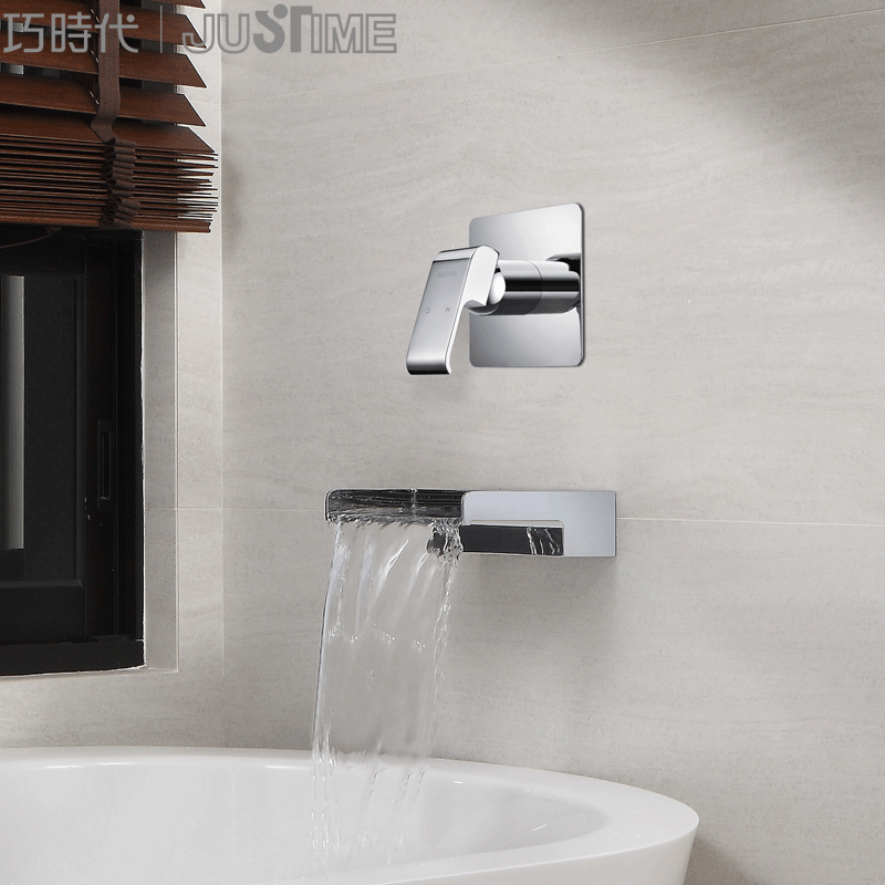 Qiao Era Justime Taiwan Imported Bathtub Faucet Black Wall Single - Bathroom faucet outlet