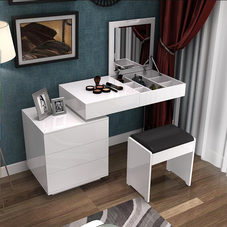 Цвет: 不锈钢腿梳妆台小柜在左