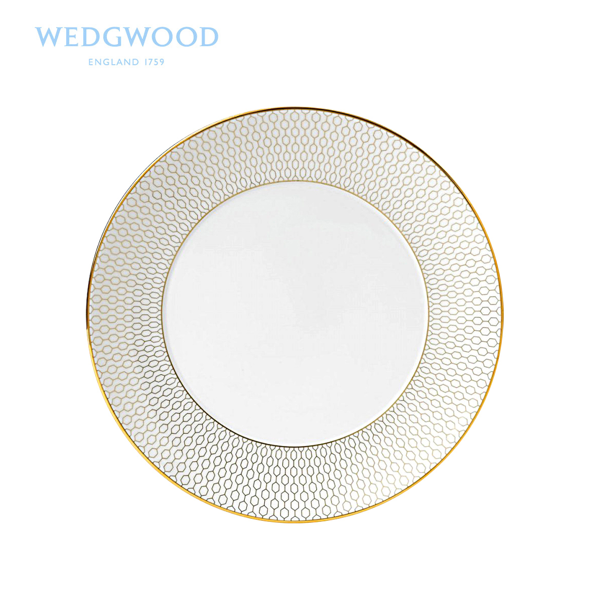 WEDGWOOD waterford WEDGWOOD Arris iris white 20 cm series flat ipads porcelain/cold dish