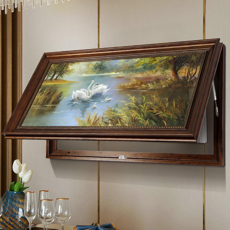 美式大气超长款电表箱装饰画可定制大尺寸电闸电源配电箱遮挡挂画