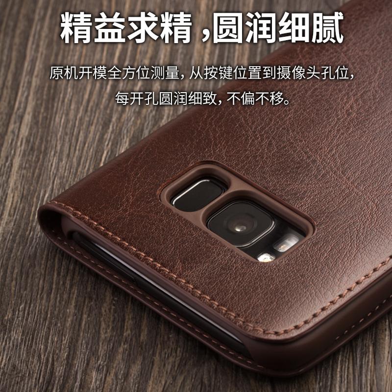 三星s9手机壳翻盖s9+Plus高档手机套galaxy防摔皮套男款s8薄S9edge真皮保护壳新款SM-G9650商务S