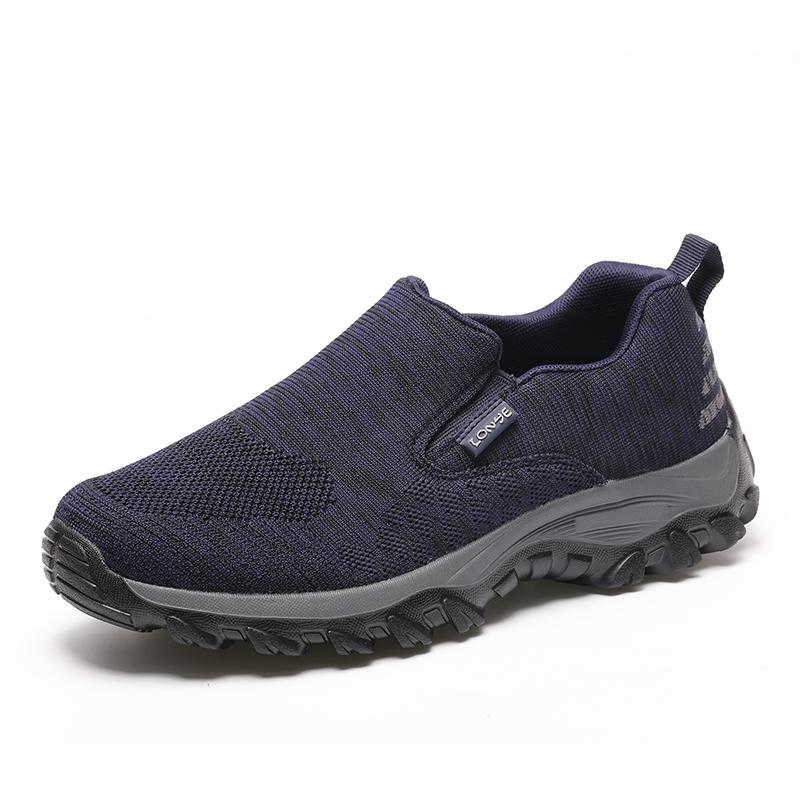 爸爸鞋秋季一脚蹬户外轻便老人健步鞋男防滑软底父亲鞋老年运动鞋