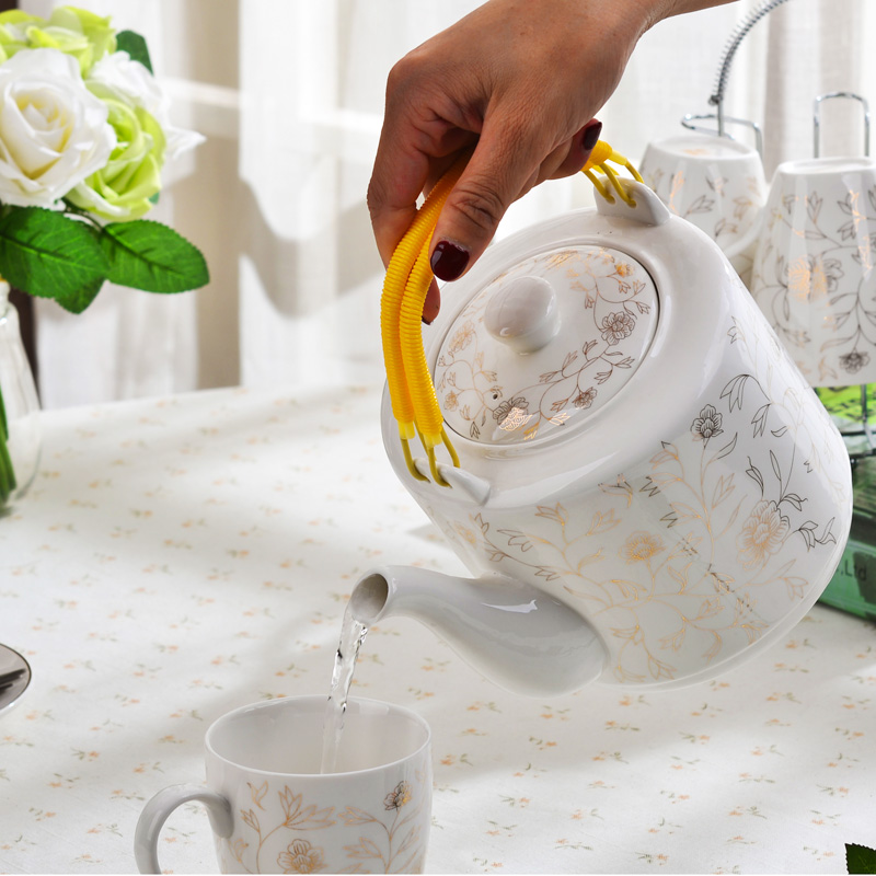 Ceramic teapot tea kettle cool household drinking water pot of a large kettle large capacity high temperature pot of cold water