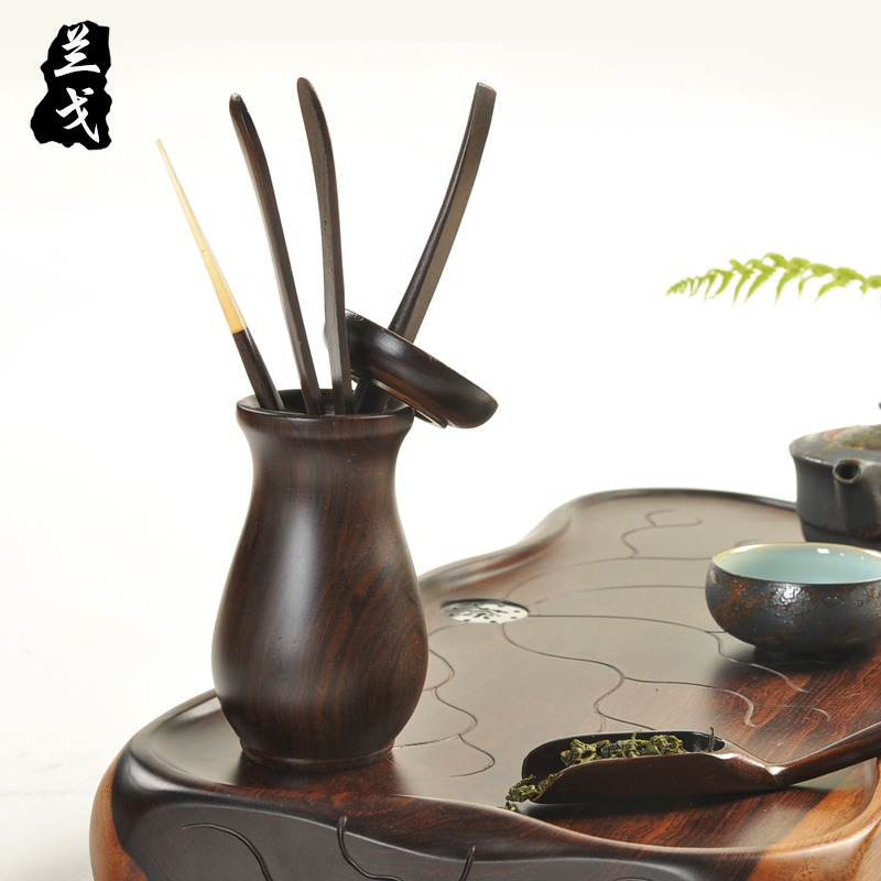 Having ebony tea six gentleman make tea tea set spare parts tools ChaGa coasters tea tray was 6 gentleman