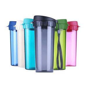 特百惠水杯莹彩创意运动大杯子夏天便携学生情侣塑料随手杯430ml