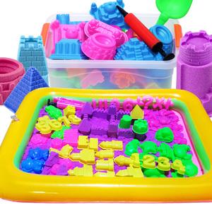 太空火星沙玩具套装超轻粘土彩泥沙子男女孩散沙玩具5斤配件