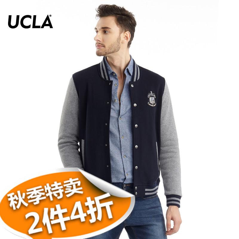 UCLA短款外套 2018秋冬新品 商务简约休闲棒球服学院风短款夹克男