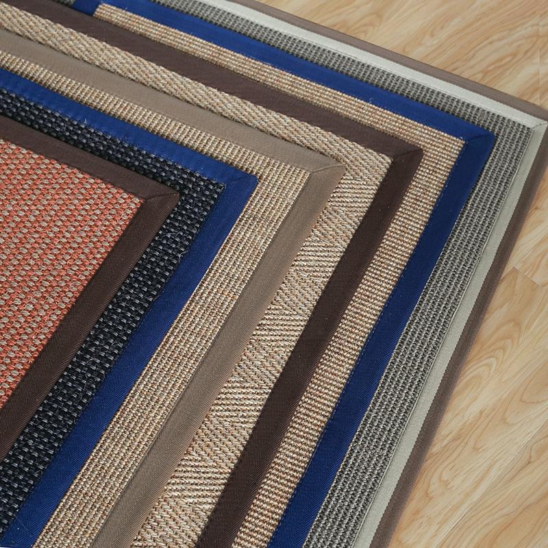 丽锦 剑麻地毯客厅卧室 简约现代茶几床边榻榻米草编麻织地毯定制