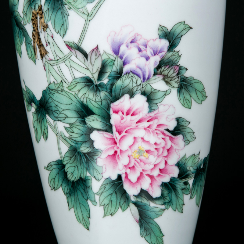 Manual coloured drawing or pattern carved vase household of Chinese style mesa adornment porcelain of jingdezhen ceramics home sitting room flower arrangement