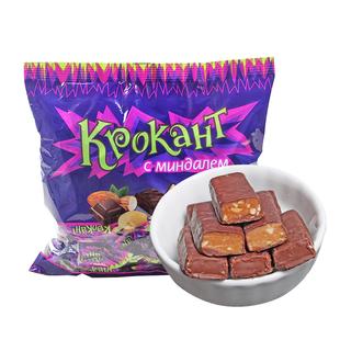 俄罗斯紫皮糖进口kdv喜糖果kpokaht巧克力原装正品年货网红零食品