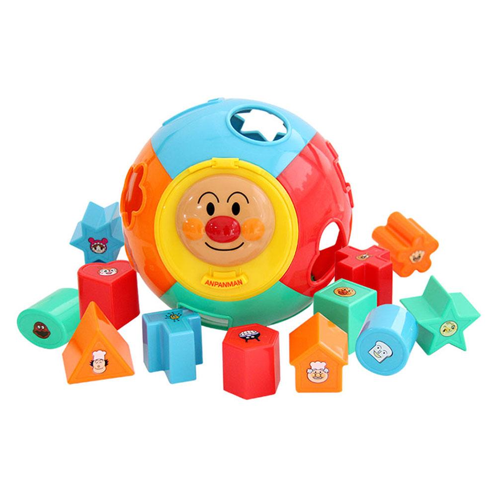 ANPANMAN面包超人益智玩具形状认知配对球形积木拼图玩具