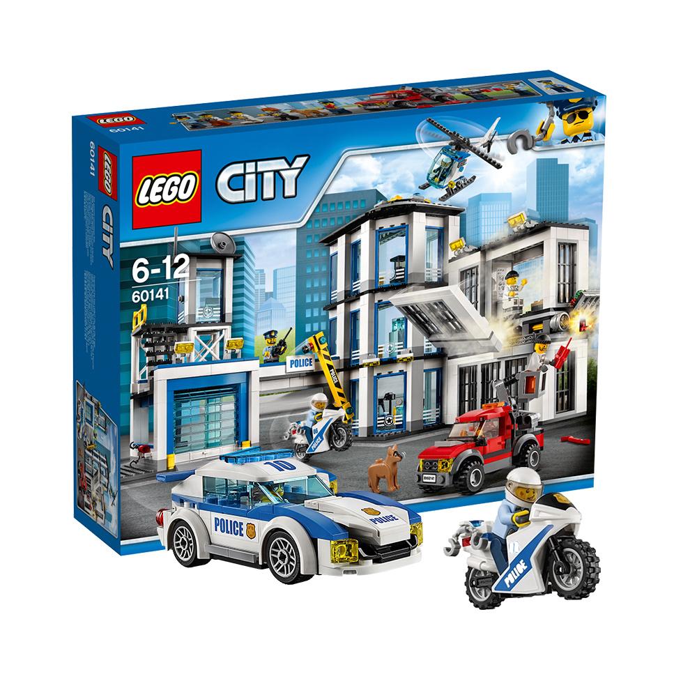 丹麦LEGO乐高进口城市警察总局60141积木玩具