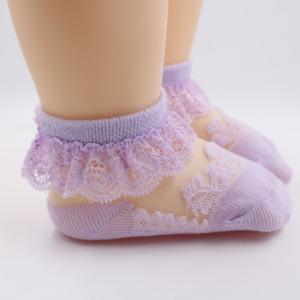 3双女宝宝袜子夏季薄款儿童花边袜蕾丝公主袜婴儿女童丝袜水晶袜