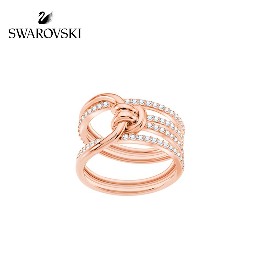 施华洛世奇 LIFELONG 时尚扭结设计指环戒指女手饰 送女友礼物
