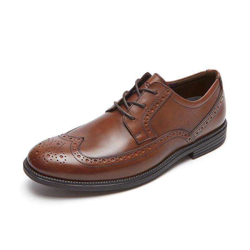 Rockport-乐步商场同款商务休闲男鞋时尚布洛克男士皮鞋CG7276