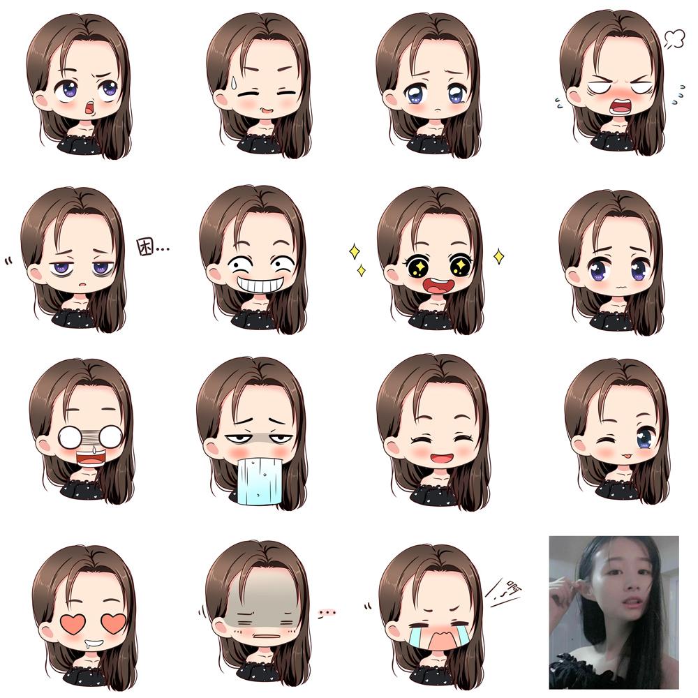 微信头像表情包定制形象卡通表情设计手绘表情包制作图片