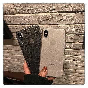 11pro闪粉苹果X透明手机壳iPhoneXSMAX/7plus网红款超薄8p/XR软壳