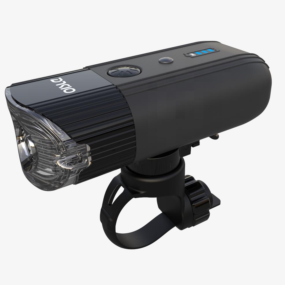 自行车前灯山地车智能强光手电筒USB充电夜行单车骑行灯OISLE
