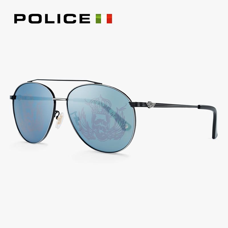 意大利POLICE眼镜新款太阳眼镜女蛤蟆镜眼镜墨镜男SPL589K