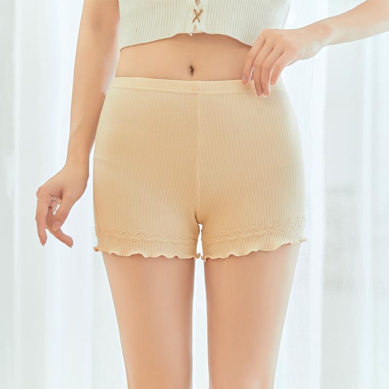 春夏季安全裤女防走光不卷边打底短裤纯棉外穿薄款三分冰丝短裤