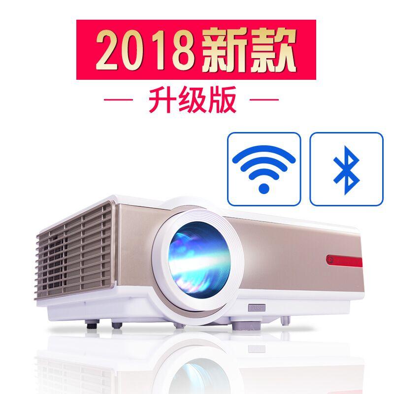 2018新款瑞格尔办公投影仪家用高清无线WIFI家庭影院1080P投影机无屏电视808升级版 安卓6.0系统3D高清影院