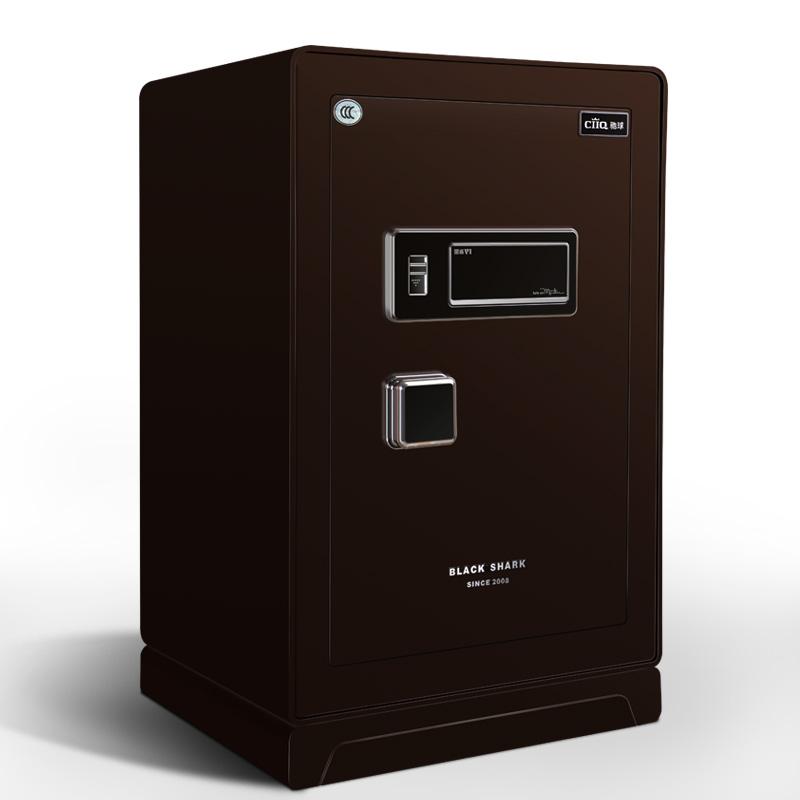 馳球3C認證保險柜家用大型防盜高端翻蓋德國專利保險箱辦公黑鯊六代F6智能電子實心6mm厚板防撬線下同款包郵