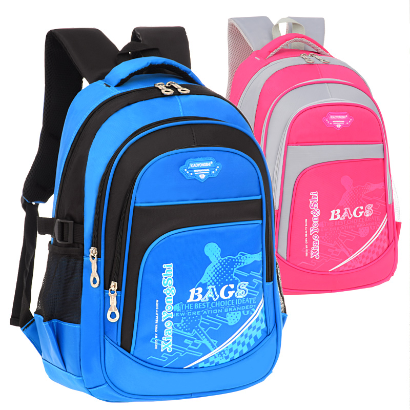 Schoolbag primary school students 1-2-3-6 grade boys and girls wear ridge wear-resistant light waterproof children's backpack 6-12 years old