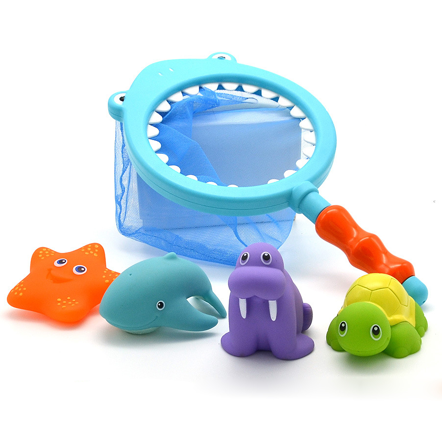 Baby bath toys, cats, fish, children, water toys, bathing, floating ...