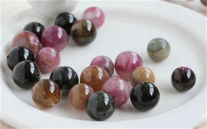 配件散珠糖果巴西碧玺色圆珠单珠单颗天然diy水晶手链半成品珠子印花烘焙模图片