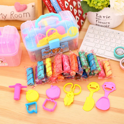 Non-toxic Clay children 24 color mud pupils handmade color 3D with tools mold set like rubber light mud safety girl boy