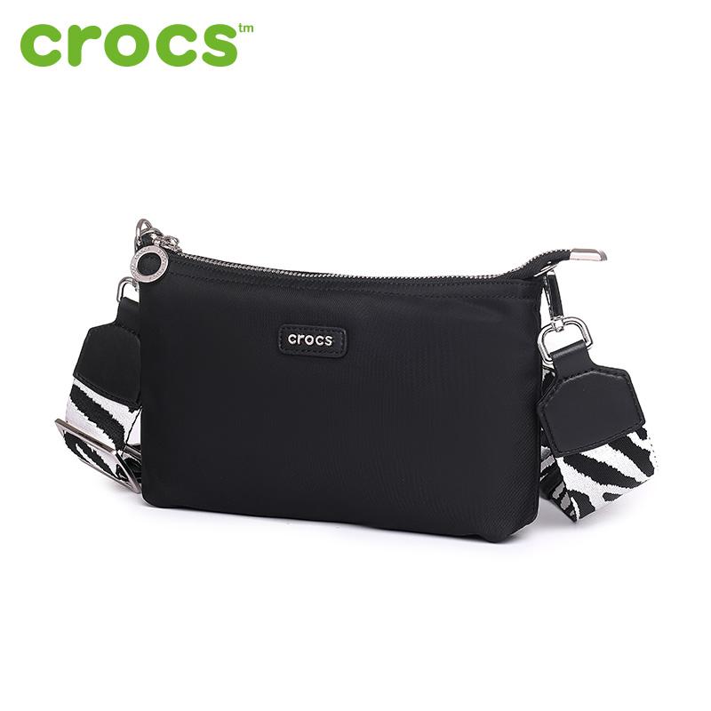 美国Crocs2018新款信封包女宽肩带简约迷你包包休闲斜挎包单肩包