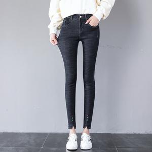 高腰牛仔裤女小脚弹力2018秋季新款韩版显瘦紧身铅笔长裤子