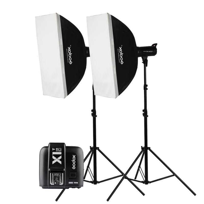 神牛SK400IIW影室闪光灯两灯摄影灯套装摄影棚人像大型家具拍照