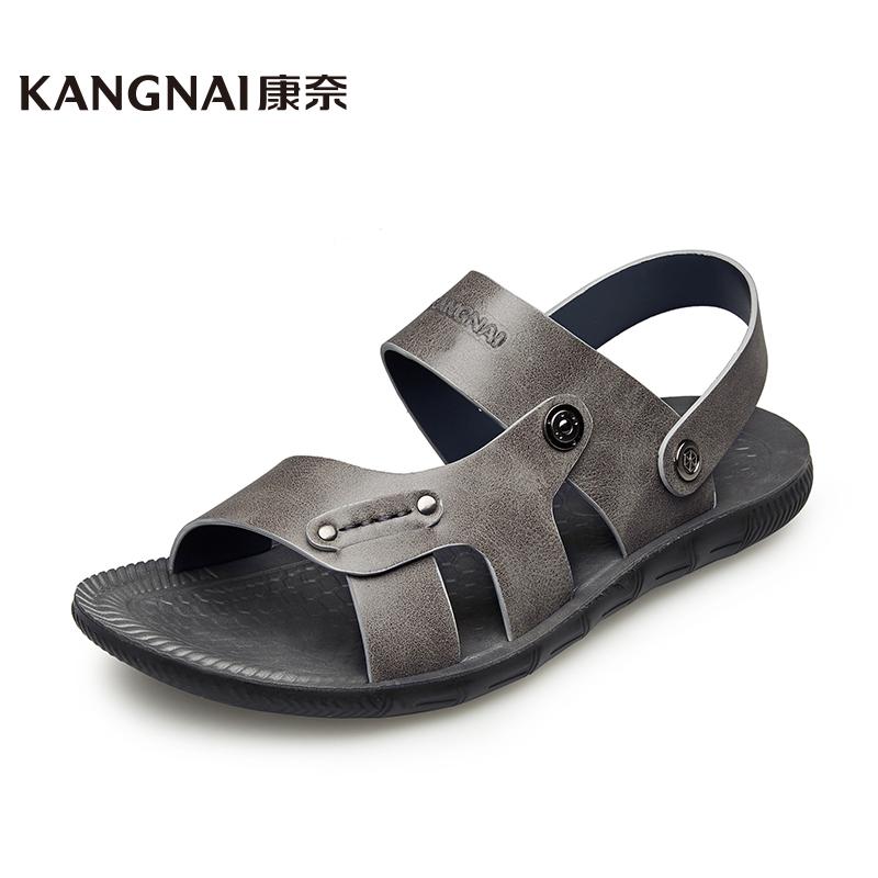 康奈男鞋 夏季新款潮流户外休闲沙滩鞋子男1171730两穿凉拖鞋