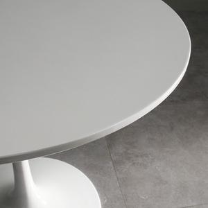 北欧休闲圆桌洽谈桌奶茶咖啡桌商务简约时尚钢化玻璃圆桌圆形小桌