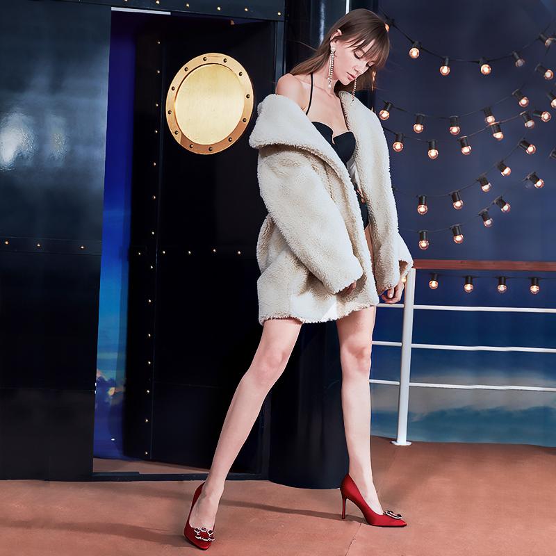 roberta诺贝达2018秋季新品女鞋时尚水钻婚鞋细高跟单鞋RL88201