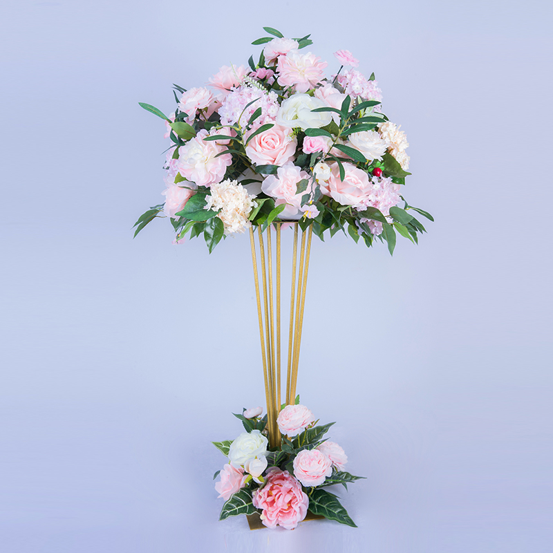 Yingsheng 2018 New Wedding Props Tapered Wrought Iron Road Flower