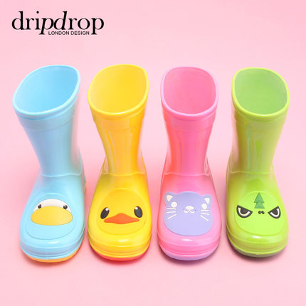 Children's Rain Boots Dripdrop rain boots boys and girls cute non-slip shoes spring and summer
