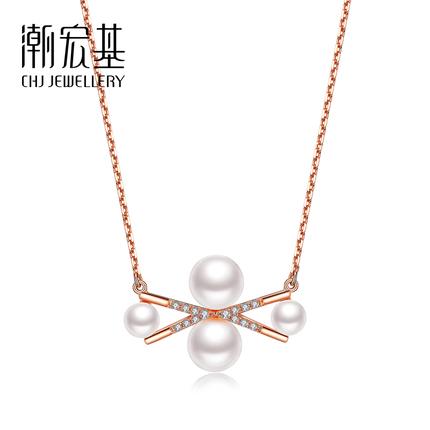 【可抵200元券】潮宏基珠宝 魅惑 红18K珍珠项链