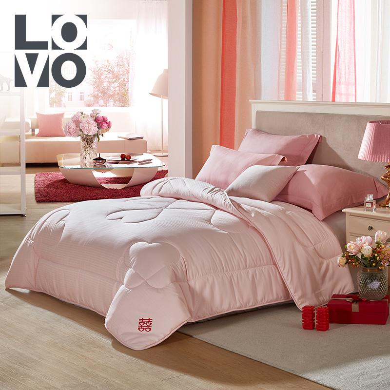 LOVO家纺提花冬被罗莱生活出品床品冬季成人婚庆保暖加厚被子被芯
