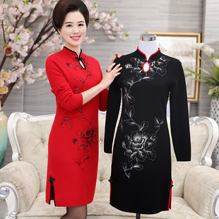 Wedding dress mother dress wedding wedding feast festive mother-in-law dress noble cheongsam mother-in-law formal occasion dress spring and autumn