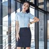 涟影职业套装夏季女短袖职业衬衫修身工作服面试气质正装商务衬衣