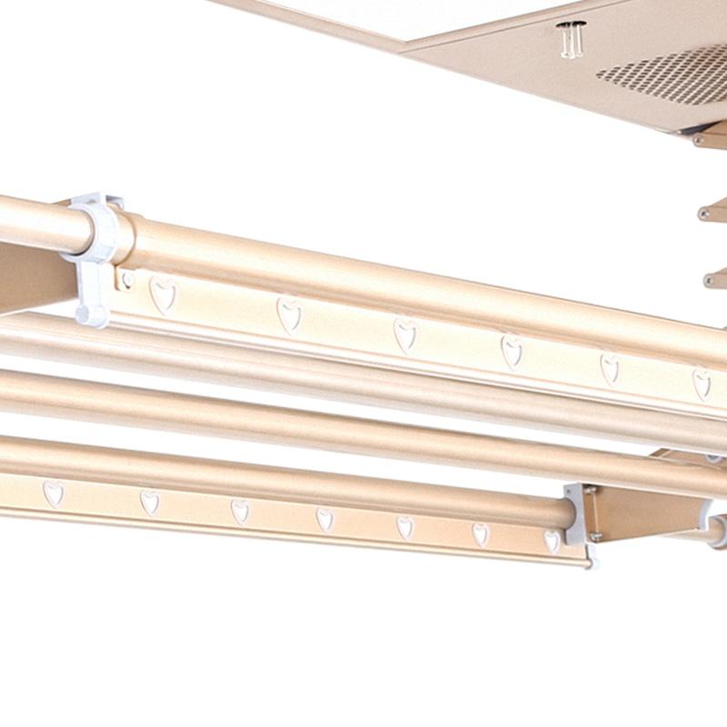 电动晾衣架遥控升降阳台吊顶自动伸缩智能晒衣架多功能双杆式