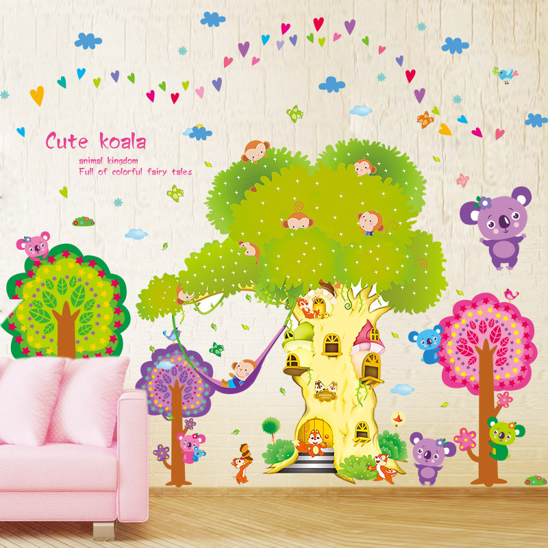 Kindergarten Children Room Height Sticker Wall Decoration Wallpaper ...