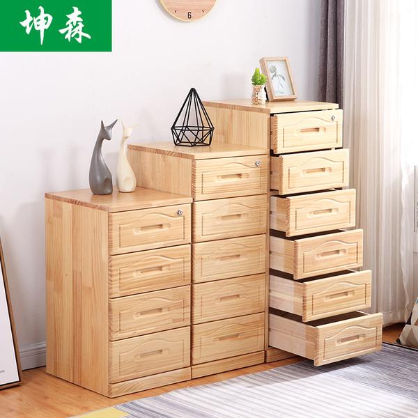实木五斗柜简约现代储物柜卧室多功能收纳柜子特价经济型六五斗橱