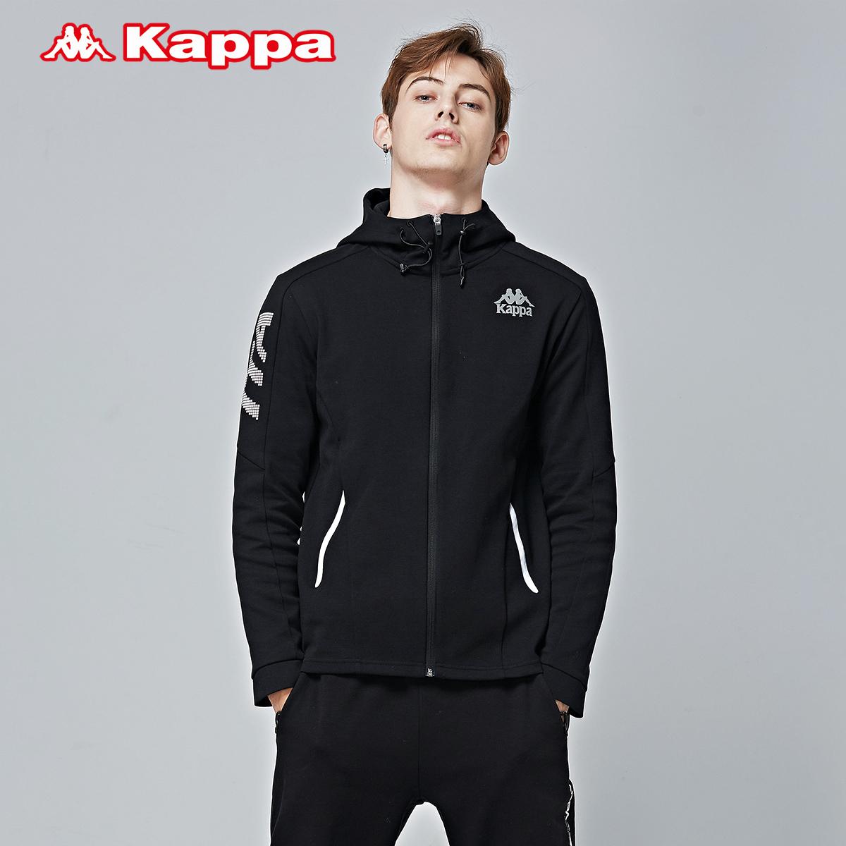Kappa卡帕男款运动卫衣 针织帽衫外套运动上衣2018新品|K0812MK05