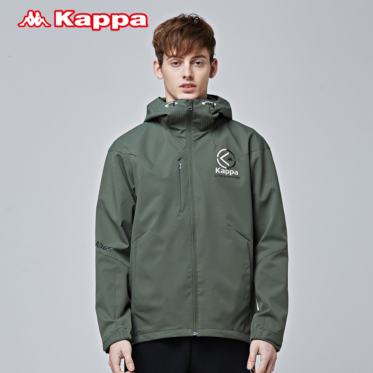 Kappa卡帕男款运动卫衣 防风衣休闲运动外套 2018新品|K0812FJ08
