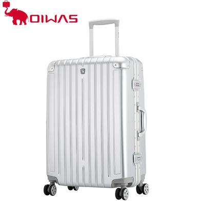 爱华仕万向轮拉杆箱20寸登机旅行箱金属防撞护角25寸铝框行李箱