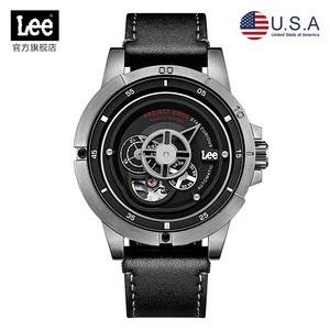 美国潮牌Lee手表钛金属全自动机械表轻盈结实个性时尚男士腕表M55